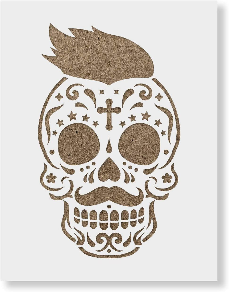 Sugar 55% OFF Skull James Stencil Template for Super sale period limited - Crafts Reusab Walls and