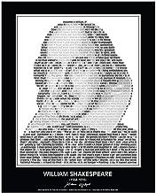 Inspirational William Shakespeare Quotes Poster. William Shakespeare Portrait made of William Shakespeare Quotes! Shakespe...