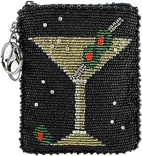 Mary Frances Beaded Coin Purse Key-Fobs (Martini)