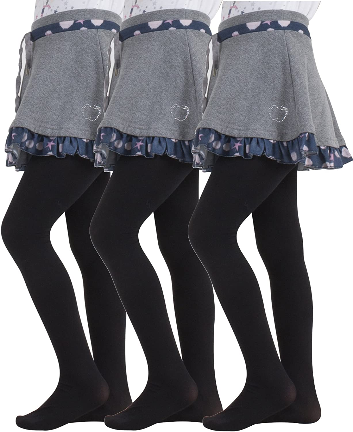 3 PAIRS CHILDREN'S PANTYHOSE   PANTYHOSE SCHOOL UNIFORM   40 DEN   2-14 YEARS   MADE IN ITALY