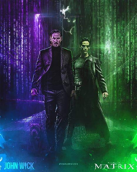Amazon.com: Tomorrow sunny The Matrix 4 2021 John Wick Movie Poster Wall  Art Print (4): Posters & Prints