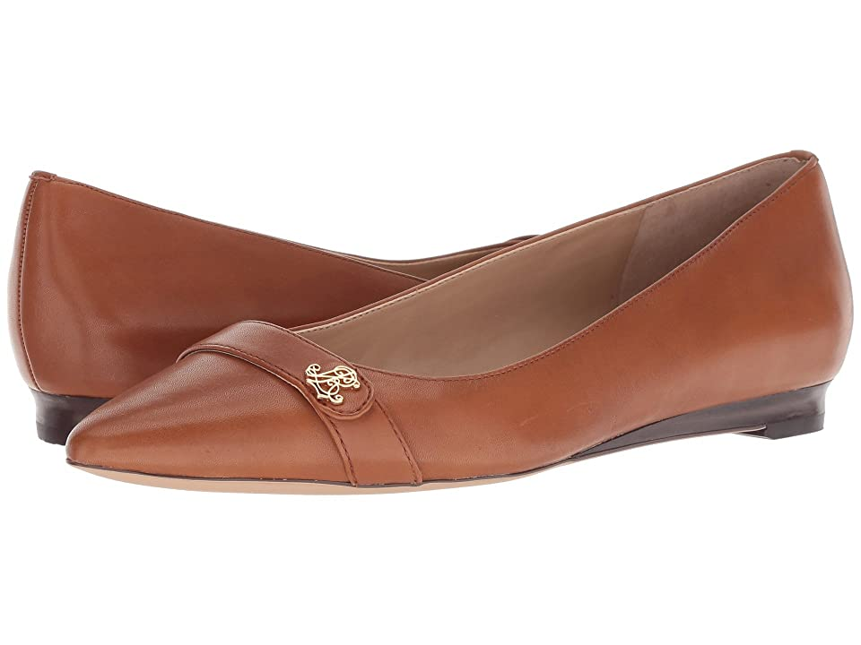 LAUREN Ralph Lauren Aminah (Deep Saddle Tan Super Soft Leather) Women