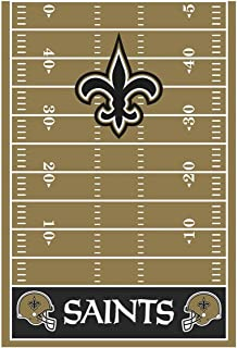 New Orleans Saints Collection Printed Plastic Table Cover for Party