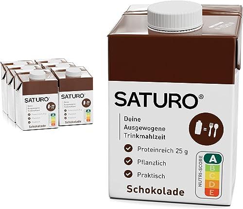 SATURO® Substitut de Repas Complet Diététique Prêt à Consommer Riche en Protéines, Vitamines et Minéraux – Milk-Shake...