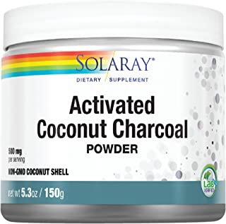 Solaray Activated Coconut Charcoal Powder | Non-GMO Coconut Shell | 150g