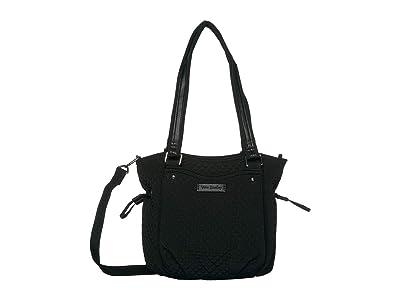 Vera Bradley Iconic Mini Glenna Satchel (Classic Black) Bags