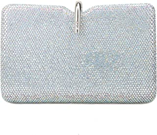 Bonjanvye Bling Crystal Clutch Party Purses Evening Bag for Women