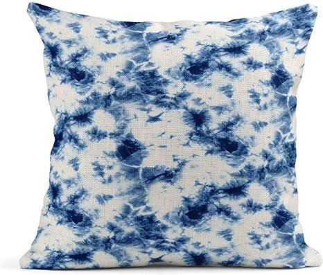 Cojín Pintura Azul Resumen Lazo teñido de Color índigo sobre ...