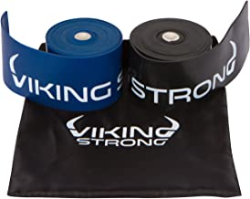 Viking Strong Floss Bands for Muscle Compression, Flossing Band, Mobility & Recovery - 2 Pack Compression Bands w/Case, Free eGuide Improve Movement, Circulation & Soreness