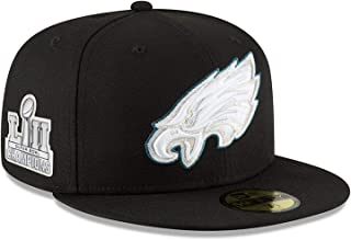 (ニューエラ) NEW ERA フィラデルフィア イーグルス 【SUPER BOWL LII CHAMPIONS 2018 59FIFTY FITTED/BLK】 PHILADELPHIA EAGLES [並行輸入品]