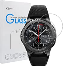Samsung Gear S3 Classic/Frontier Screen Protector [2 Pack], Qoosea Ultra-Thin 2.5D 9H Hardness Crystal Clear Scratch Resistant Tempered Glass Screen Protector for Samsung Galaxy Gear S3 Smart Watch