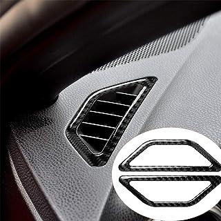 スバル BRZ/トヨタ 86 2013-2020 カーボンファイバーカーエアコンインテリアアウトレットベントフレームカースタイリングステッカー/サイド排気口トリムフレーム装飾/サイドエアアウトレットフレーム/ダッシュボードサイドエアコンベント装...