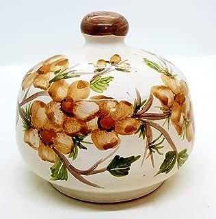 Nascondispugna Linea Fiori di Pesco per Cucina e Bagno Handmade Le Ceramiche del Castello 100% Made in Italy
