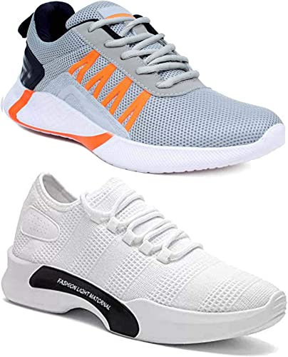 Men s 9212 9310 Multicolor Casual Sports Running Shoes Set of 2 Pair