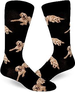 Men's Labrador Dog Socks in Black (Fits Most Men Shoe Size 8-13)