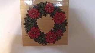 poinsettia wreath stamp