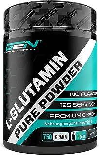 L-Glutamina en polvo - 750 g - Premium: L-Glutamina pura y ultrafina sin aditivos - Aminoácido L-Glutamina 100% micronizad...