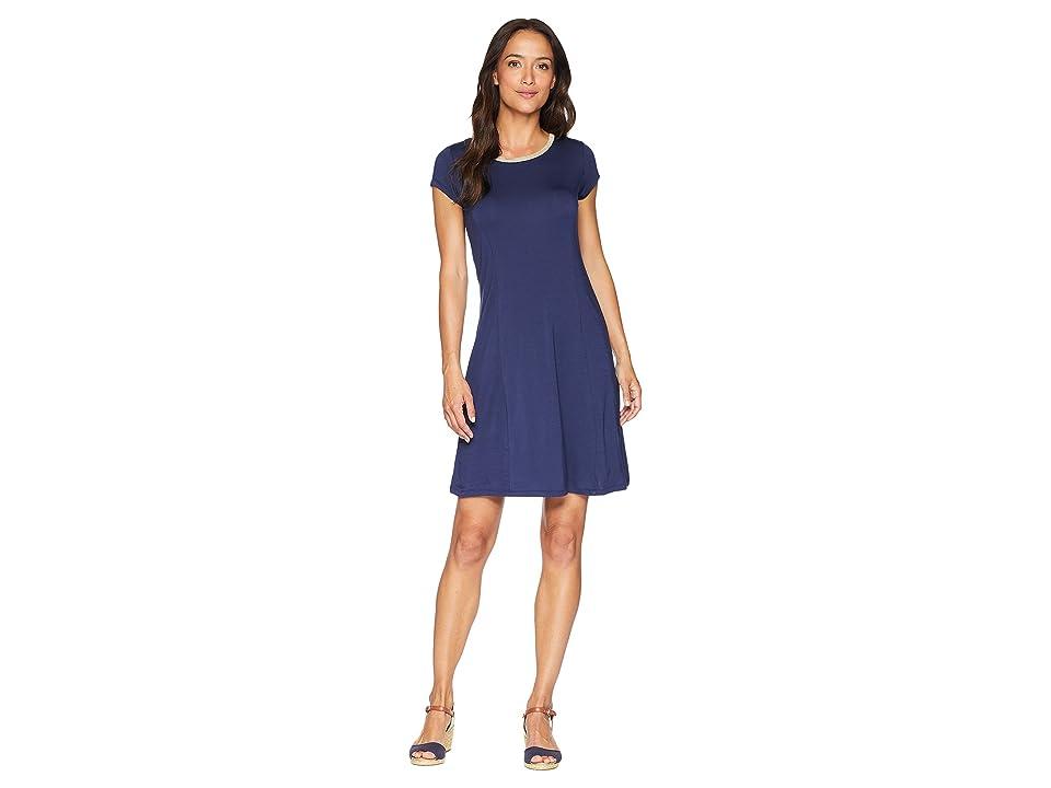 MICHAEL Michael Kors Cap Sleeve Seam Mini Dress (True Navy) Women