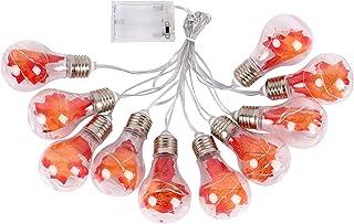 Staright 13 pés 10LEDs Luzes de corda de fada Halloween Natal Maple leaf em forma de luzes penduradas decorativas lâmpadas...