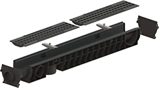 Standartpark - 4 inch trench drain system with cast iron package mesh - 4.8