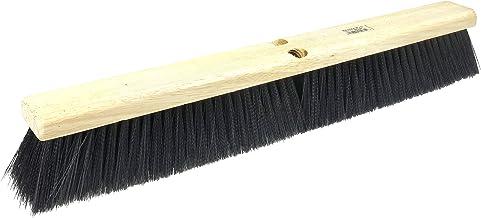 "Weiler 25235 24"" Vortec Pro Medium Sweep Floor Brush, Polystyrene Border With Black Polypropylene"
