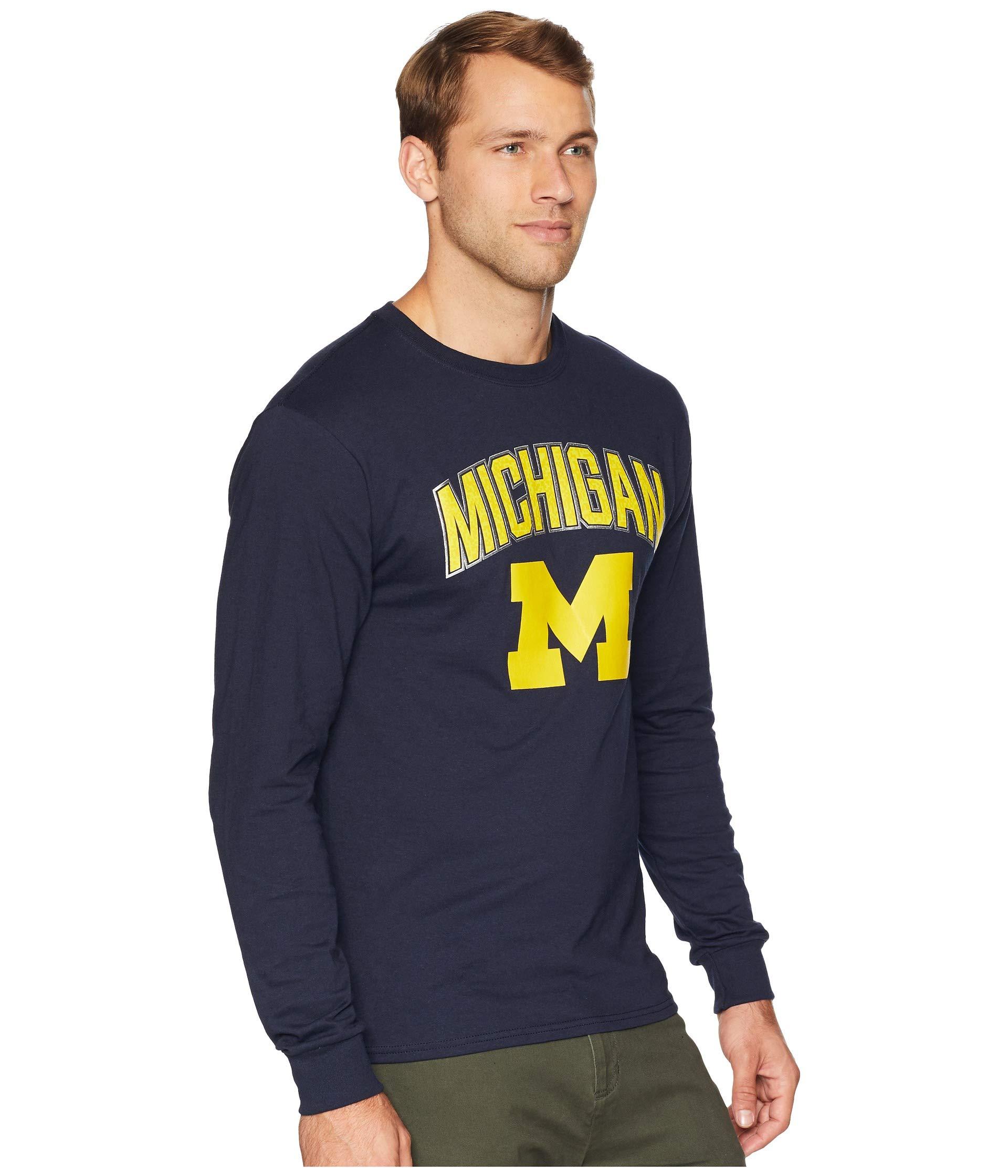 Sleeve Jersey Champion Wolverines College Long Michigan Navy Tee fIxIOXSBnw