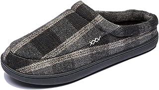 Zapatos De Casa De Fondo Suave Zapatillas Cómodas Zapatos De Invierno Para Hombre Zapatillas De Felpa Cálidas Chanclas Uni...
