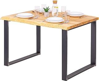 LAMO Manufaktur Table à Manger, Table pour Salle à Manger 120x80x76 cm (Long. x larg. x Haut.), Bois Massif, Modern, Frêne...