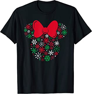 Minnie Mouse Icon Holiday Snowflakes T-Shirt