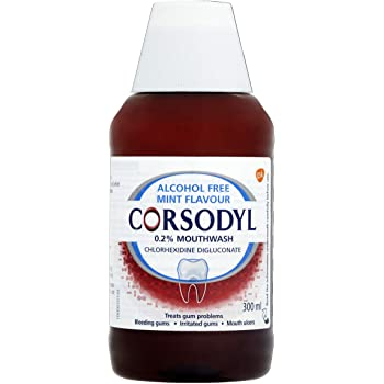 Corsodyl Antibacterial Mouthwash Alcohol Free, 300ml