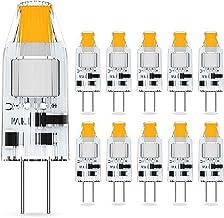 G4 Ledlampen, 1,2 W, vervanging voor halogeenlampen van 10 W, G4, 12 V AC/DC, warmwit 2700 K, G4-fitting, geen flikkeren, ...
