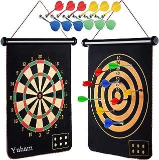 Yuham Magnetic Dart Board Indoor Outdoor Games for Kids...