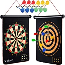 Yuham Magnetic Dart Board Indoor Outdoor Games for Kids and Adults with 12pcs Safe Darts,..