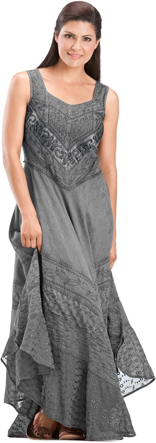 HolyClothing Vanessa Diamond Neck Lace Full ALine Skirt Sun Dress
