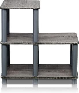Furinno Turn-N-Tube Accent Decorative Shelf, French Oak/Grey