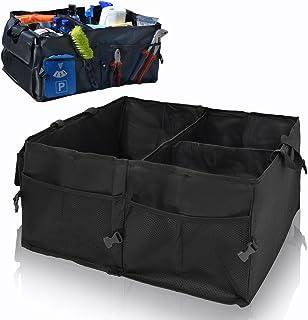 EYEPOWER Kofferraumtasche Auto Organizer 56x40x24 cm Autozubehör Tasche Faltbare Kofferraum Aufbewahrungs Box Schwarz