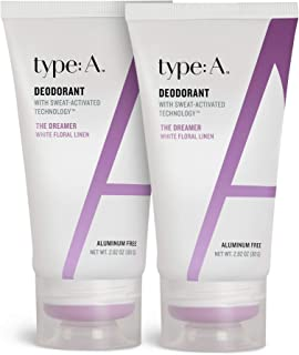 Type:A - Aluminum Free Deodorant for Women & Men – Sweat Activated Technology, Natural Ingredients, Non-Toxic, Paraben Fre...