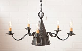punched tin chandelier