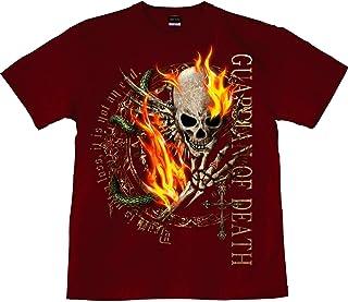 [GENJU] Tシャツ スカル 髑髏 ドクロ 十字架 ロック系 メタル バイカー ハード 背面無地版 メンズ キッズ