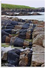 YINSHE Landscape Poster Horsta Beach Rocks in Northern Outer Hebrides, Scotland Canvas Art Poster and Wall Art Picture Pri...