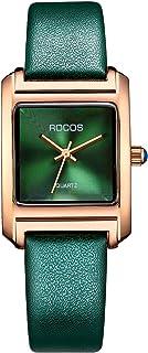ROCOS Women's Wrist Watch Japanese Quartz Ultra-Thin Dress Watch with Emerald Green Dial Ladies Luxury Classic Elegant #R0219