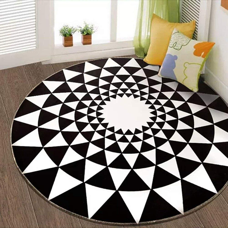 Creative Elegant Minimalist Nordic Carpet Geometric (color Yellow, Size  100cm)