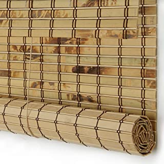 PASSENGER PIGEON Bamboo Window Blinds, Gently Filters Light into Room Roll Up Blinds Shades with Valance, 20