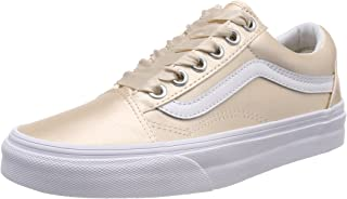 Vans Women's Old Skool Trainers, Pink ((Satin Lux) Blush/True White R1g), 7.5 UK 41 EU