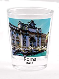 Rome Italy Trevi Fountains Color Photo Shot Glass