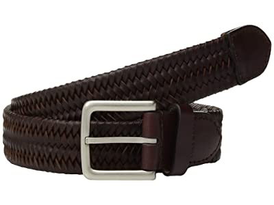 Cole Haan 35 mm. Stretch Braided Leather Belt (Cordovan) Men