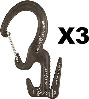 Nite Ize Figure 9 Carabiner Small Rope Tightener Aluminum Tie Down Tool (3-Pack)