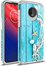 Moto Z4 Play Case, Moto Z4 Case, Rosebono Slim Hybrid Dual Layer Shockproof Graphic Colorful Silicone Skin Cover Armor Case for Motorola Moto Z Play 4th Generation