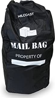 Milcoast Mail and Package Transport Bag for USPS UPS FedEx Dropoff - Water Resistant and Durable 50 lbs Capacity