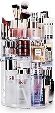 Maquillali Organizador de Maquillaje, Acrílico, 360° Rotación con 7 Niveles Ajustable, (Transparente)